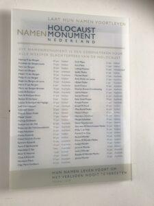 Namenlijst van Joodse slachtoffers onthuld in de Weesper synagoge / Bernhard Cohen sjoel